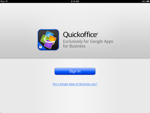 quickoofice ipad google apps