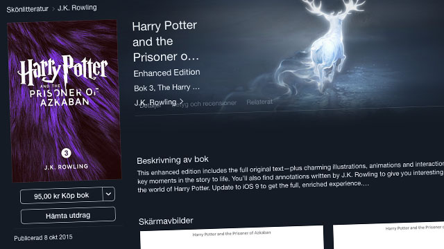 Harry Potter p� Ibooks Store