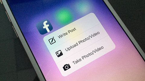 Facebooks nya app optimerad f�r Iphone 6S och 3D Touch