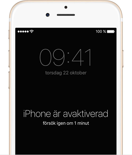 Iphone avaktiverad
