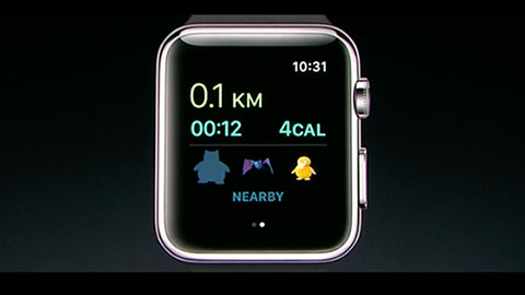 Pokémon Go på Apple Watch